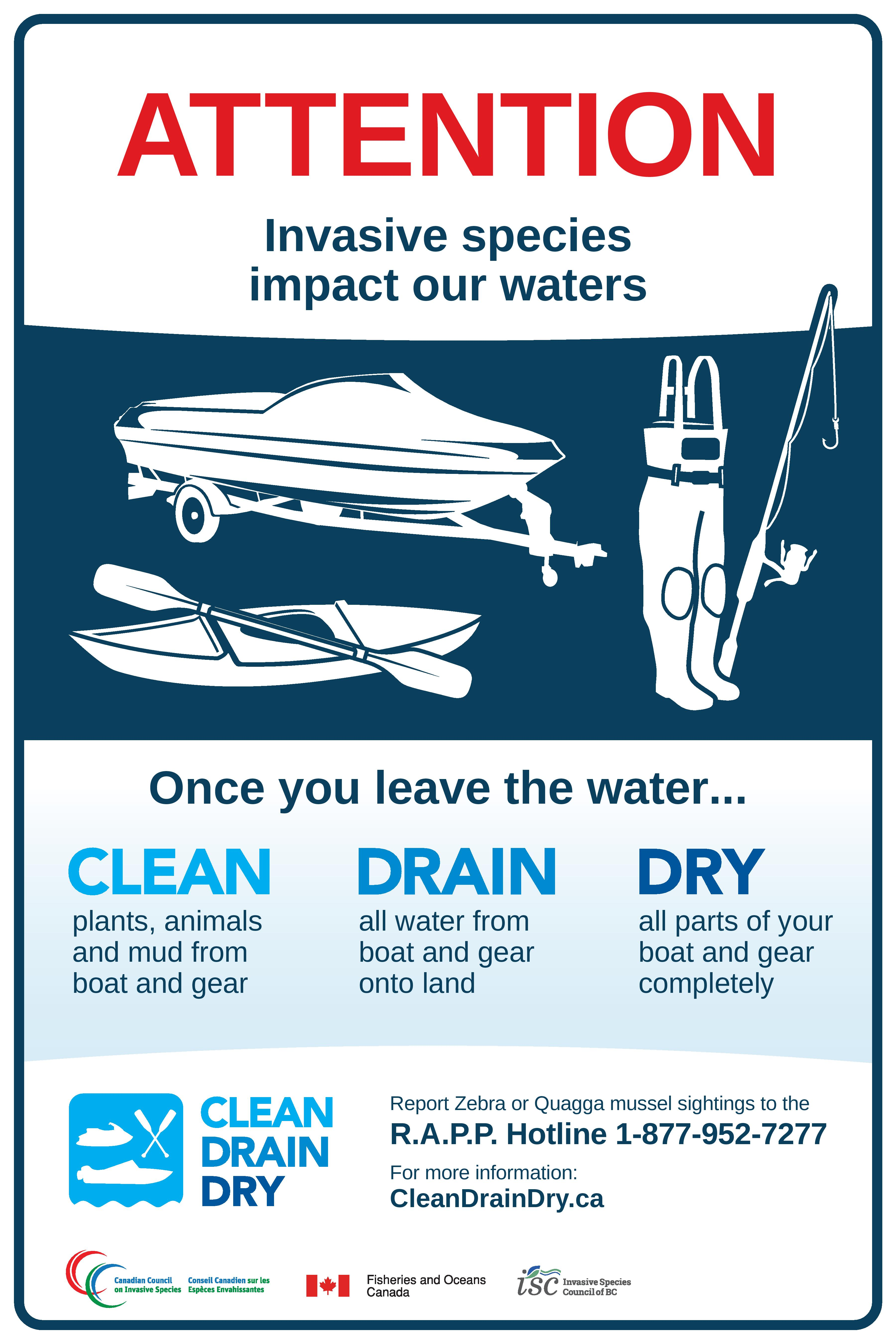 Clean Drain Dry - Canadian Council on Invasive Species
